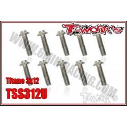 TSS312U Vis titane 3x12 tête UFO (10)