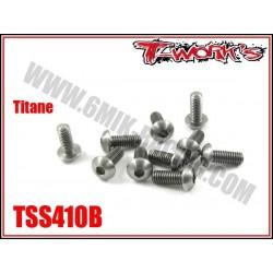 TSS410B Vis titane 4x10 tête bombée (10)
