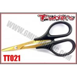 TT021 Ciseaux à lexan traités « Titanium Nitride »