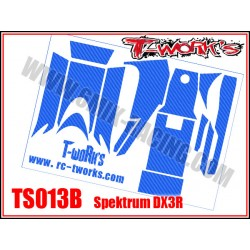 TS013B Stickers 3D carbone rouge pour Spektrum DX3R