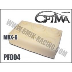 PF004 Mousses de filtre air pour MBX-6 (6 Pcs)