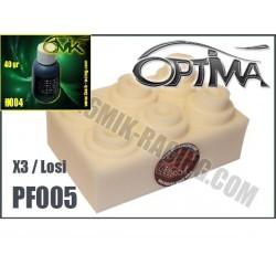 PF005H Kit de mousses de filtre à air avec Huile (50ml) - Losi / X3 / Serpent
