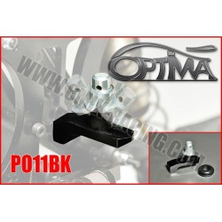 PO11BK Support de carrosserie arrière sur Silent-Bloc Noir