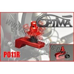 PO11R Support de carrosserie arrière sur Silent-Bloc Rouge