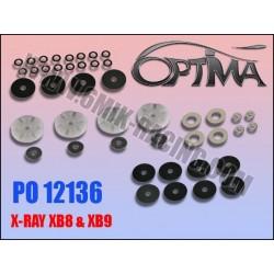 PO12136 Pistons à clapets «Team Edition» et «Ride Control» pour XB808