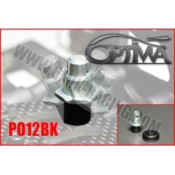 PO12BK Support de carrosserie avant sur Silent-Bloc Noir