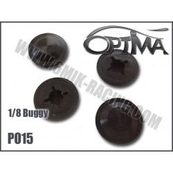 PO15 Membranes d'amortisseur 1/8 15 mm (4 pcs)