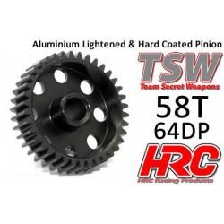 HRC76458AL Pignon - 64DP - Aluminium - TSW Pro Racing – Léger – 58D