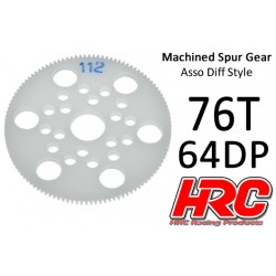 HRC76476A Couronne - 64DP - Delrin Low Friction usiné - Diff Style - 76D