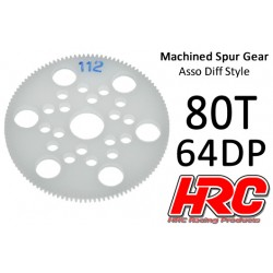 HRC76480A Couronne - 64DP - Delrin Low Friction usiné - Diff Style - 80D