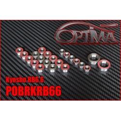 POBRKRB66 Kit Roulements Complet pour Kyosho RB6.6 (22 pcs)