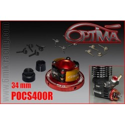 POCS400R embrayage 4 POINTS OPTIMA Ø34mm Rouge