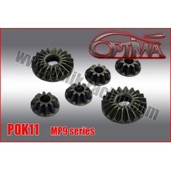 POK11 Pignons de diffs en acier pour MP9