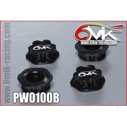PW0100B Ecrous de roues Borgnes noir (4 pcs)