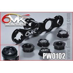 PW0102 Clef à roue + 5 écrous borgnes noir