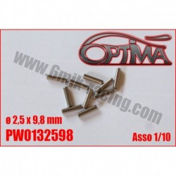 PW0132598 Goupilles de cardan ø2,5 x 9,8 mm Asso 1/10