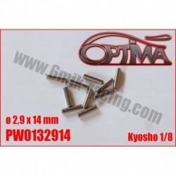 PW0132914 – Goupilles de cardan Kyosho 1/8 ø2,9 x 14 mm