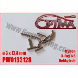 PW0133128 - Goupilles de cardan ø3 x 12,8 mm Hobbytech, X-Ray 1/8, Mugen, etc…