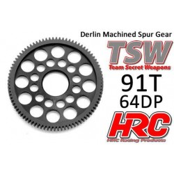 HRC76491LW Couronne - 64DP - Delrin Low Friction usiné - Ultra Light - TSW Pro Racing - 91D