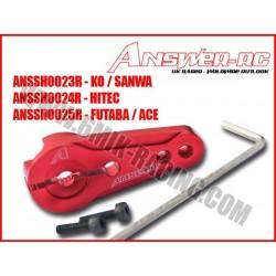ANSSH0025R Palonnier de servo Verouillable en alu Rouge pour FUTABA / ACE