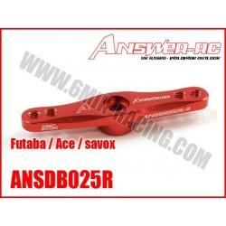 ANSSHD024R Palonnier de servo Double en alu Rouge pour HITEC