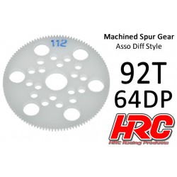 HRC76492A Couronne - 64DP - Delrin Low Friction usiné - Diff Style - 92D