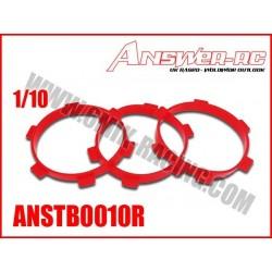 ANSTB0010R Elastiques de collage pour pneus 1/10 (4 Pcs)