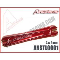 ANSTL0001 Clé plate 4 & 5 mm