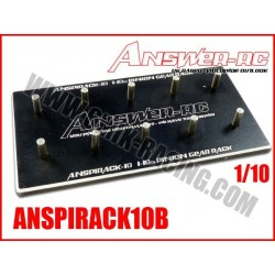 ANSPIRACK10B Support de pignons moteurs 1/10 Noir