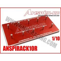 ANSPIRACK10R Support de pignons moteurs 1/10 Rouge