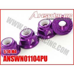 ANSWN01104PU Ecrous de roue 1/10 Purple (4 pcs)