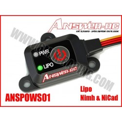 ANSPOWS01 Interrupteur électronique POWER SWITCH (Lipo, NimH & NiCad)