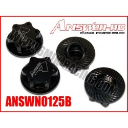 ANSWN0125B Ecrous de roue borgne 1,25mm Noir: Hong Nor, Hobao, Hbodies… (4 Pcs)