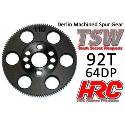 HRC76492T Couronne - 64DP - Delrin Low Friction usiné - TSW Pro Racing - 92D