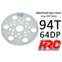 HRC76494A Couronne - 64DP - Delrin Low Friction usiné - Diff Style - 94D