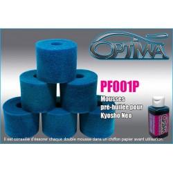 PF001P Mousses de filtre à air pré-huilée pour 6mik & Néo (6)