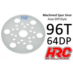 HRC76496A Couronne - 64DP - Delrin Low Friction usiné - Diff Style - 96D