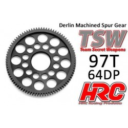 HRC76497LW Couronne - 64DP - Delrin Low Friction usiné - Ultra Light - TSW Pro Racing - 97D