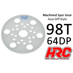 HRC76498A Couronne - 64DP - Delrin Low Friction usiné - Diff Style - 98D