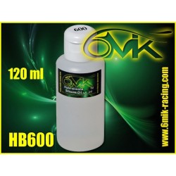 HB600 Huile silicone amortisseur 600 cps (120ml)