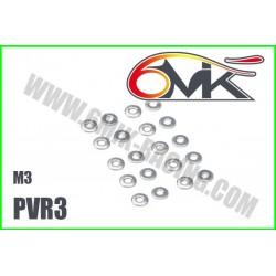 PVR3 Rondelles acier M3 (20 pcs)