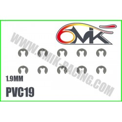 PVC19 Circlips Inox 1,9 mm (10 pcs)