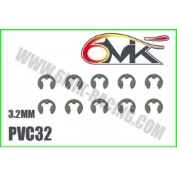 PVC32 Circlips Inox 3,2 mm (10 pcs)
