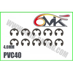 PVC40 Circlips Inox 4 mm (10 pcs)