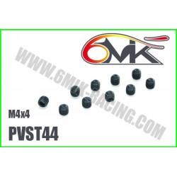PVST44 Vis acier sans tête M4x4 (10 pcs)