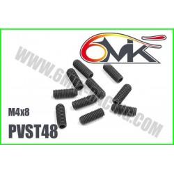 PVST48 Vis acier sans tête M4x8 (10 pcs)
