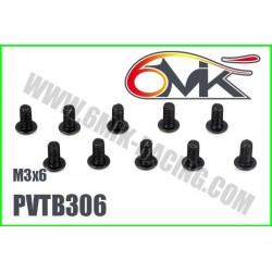 PVTB306 Vis acier tête bombée M3x6 (10 pcs)