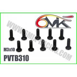 PVTB310 Vis acier tête bombée M3x10 (10 pcs)