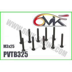 PVTB325 Vis acier tête bombée M3x25 (10 pcs)