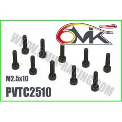 PVTC2510 Vis acier tête cylindrique M2,5x10 (10 pcs)